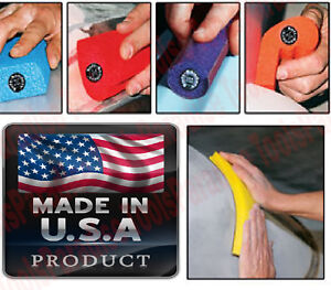 Auto Body Soft Hand Palm Sander Block Flexible Sanding Sponge 8 Long
