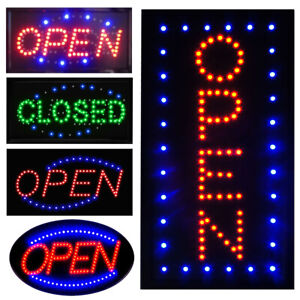 Boshen Bright Led Open Sign Neon Light Animated Motion Business Ad Board Switch