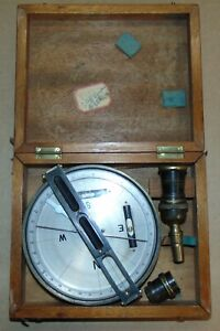 Vintage Hughes Owens Co Tycos Survey Compass With Carrying Case
