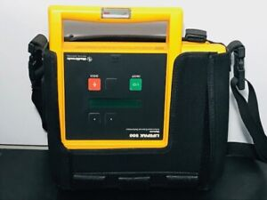 Lifepak 500 Biphasic Ecg Machine W case Untested For Parts as is no Battery