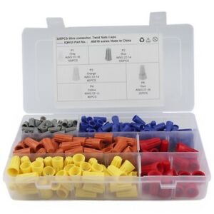5x 320 Pcs Twist on Wire Connector Assortment yellow red blue gray Easy Twi L6u1