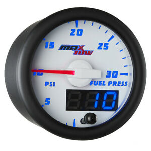 Slightly Used White Blue Maxtow Double Vision 30 Psi Fuel Pressure Gauge Kit