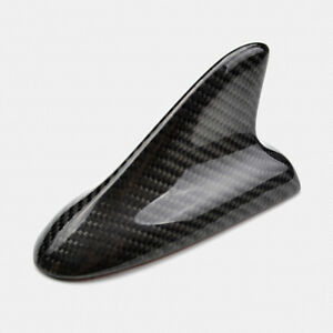 Universal Fitted Real Carbon Fiber Roof Top Decorative Shark Fin Antenna C Style