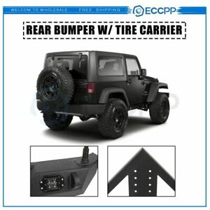 Fits For 07 18 Jeep Wrangler Jk Rear Bumper W Winch And Tire Carrier Triangular
