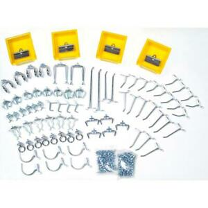 Triton Products Pegboard Hook Kit Wall Organizer Locking System 6 In Height
