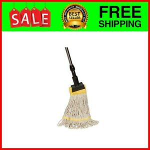 Industrial Grade String Mop With Extendable Metal Handle And Jaw Clamp