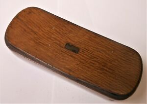 Great Antique Carved Wooden Snuff Box With Tortoise Interior