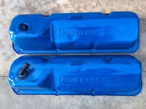 Oem 1970 71 Ford Mustang Cougar Old Blue 351c Cleveland Valve Covers