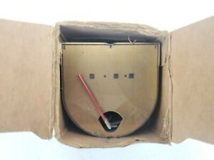 Nos Genuine Ford 1942 Fuel Gas Gauge Dash Unit Gold Face Red Needle 21a 9280