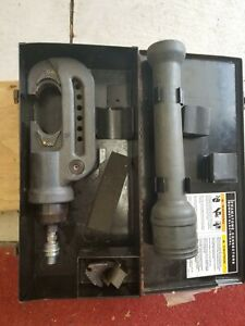 Burndy Y46 Hypress Hydraulic Crimping Tool With Case And Dies 10 000 Psi
