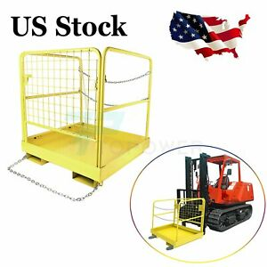 36 X 36 Forklift Safety Cage Collapsible Work Platform For Lift Aerial Durable