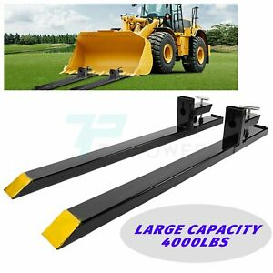 6 In 4000 Lb Pallet Forks Clamp On Skid Steer Bucket Quick Attachment Forks Us
