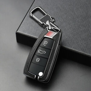 S Style Metal leather Car Key Fob Case Cover For Audi A6 A3 A4 A2 A8 Tt Q3 Q7 S1
