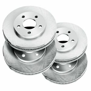 Fit 2011 Ford Mustang Front Rear Powersport Blank Brake Rotors