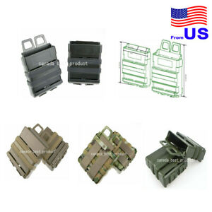 Tactical Airsoft Fast Magazine Pouch Holder Pouch Set 7.62 Molle System USA $14.39