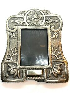 Beautiful Antique Anglo Indian Silver Repousse Picture Frame 135 Grams