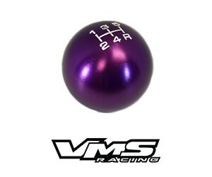 Vms Racing Purple Round Cnc Billet Gear Lever Shift Knob For Subaru 5 Speed