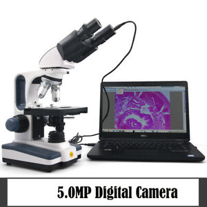 Swift 40 2500x Lab Binocular Compound Microscope With 5mp Usb2 0 Digital Camera