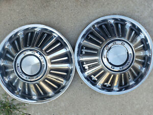 1965 1966 1967 Ford Galaxie Dog Dish Poverty Hubcaps 10 1 2 Inch