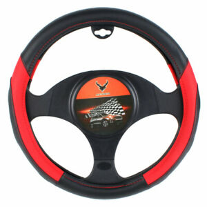 15 Car Steering Wheel Cover Black Leather Pu Universal Fit Protection