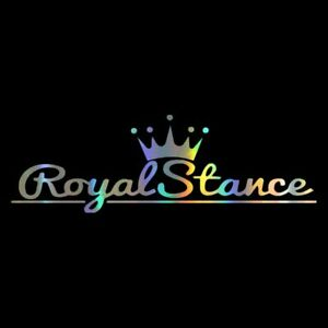 Royal Stance Decal Car Sticker Crown Jdm Vinyl Reflective Auto Front Windshield