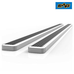Eag Running Boards And Brackets Aluminum 4 Fit 15 17 Ford F150 Super Cab