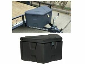 Heavy Duty Tongue Tool Box Durable Lid Lightweight Boat Trailer Storage Organize