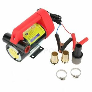Dc 12v Oil Pump Electric Portable Transfer Pump Extractor Suction Oil Fluid Car