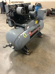Pre owned Ingersoll Rand T30 Air Compressor 2 Stage 10 Hp 230 460vac 3 ph