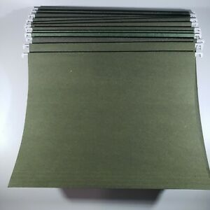 Skilcraft 25 Hanging File Folders Legal Size Green No Tabs Used