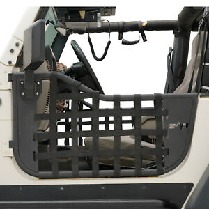 Eag Matrix Tubular Door With Side View Mirror Fit For 1997 2006 Jeep Wrangler Tj