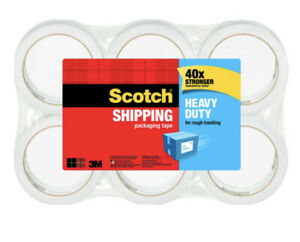 Scotch Heavy Duty Shipping Packaging Tape 1 88 In X 60 15 Yd 6 pack