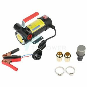 12v Oil Pump Motor Oil Transfer Fuel Fluid Extractor Electric Siphon Diesel