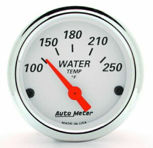 Autometer Arctic White 2 1 16 Electric Water Temperature Gauge 100 250 Deg F