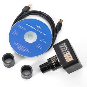 Swiftcam Sc303 ck 3mp Usb Microscope Digital Camera Calibration Kit Software
