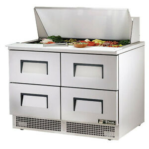 True Tfp 48 18m d 4 48 Mega Top Sandwich Salad Unit Refrigerated Counter