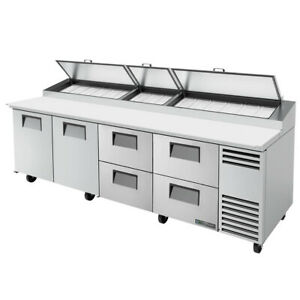 True Tpp at 119d 4 hc 119 Pizza Prep Table Refrigerated Counter