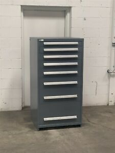 Used Stanley Vidmar 8 Drawer Modular Cabinet Industrial Tool Parts Storage 2230