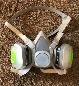 3m 5201 21571 Half Face Piece Respirator Size Medium W Organic Vapor Cartridge