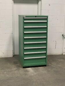 Used Lista 9 Drawer Cabinet Industrial Tool Shop Storage 2232 Vidmar