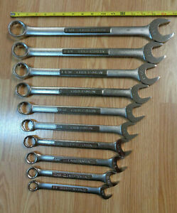 Usa Made Craftsman 1 1 4 5 8 Large Sae Inch Combination Wrench Set 10pc