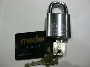 Abus 83 50 Padlock W Medeco Biaxial Cyl 2 Keys And Copy Card High Security