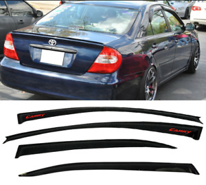 For 02 06 Toyota Camry Window Visor Rain Guard Shade Deflector Smoke Slim Type