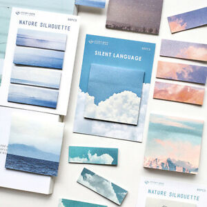 Nature Memo Pad Paper Sticky Notes Supply Bookmark Label Stationery Supplies Diy