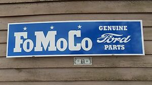 New Earlier Style Classic Ford fomoco Parts Sign garage mancave Art 1 x46
