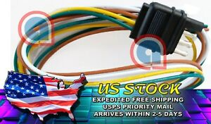 4 Way Flat 4pin 4feet 48 Inch Trailer Light Male Plug Wire Harness Connector