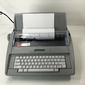 Brother Sx 4000 Light Portable Electronic Typewriter W Paper Feed cover Tested