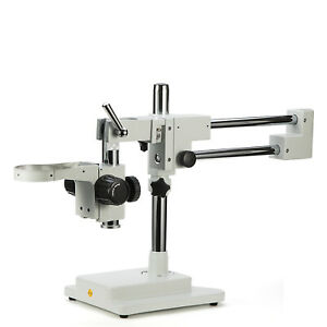 Swift Double Arm Boom Stand For Stereo Microscope Focus Block Tube Mount 76mm