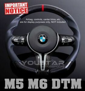 D Type Carbon Nappa Leather Dtm Steering Wheel For Bmw M5 M6 F10 F12 F13 F06 F07