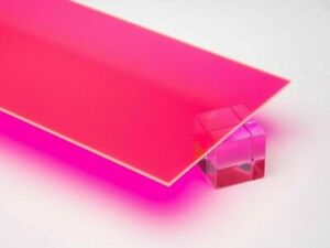 1 8 3mm Pink Fluorescent Acrylic 12 x12 Cast Plexiglass Sheet Azm